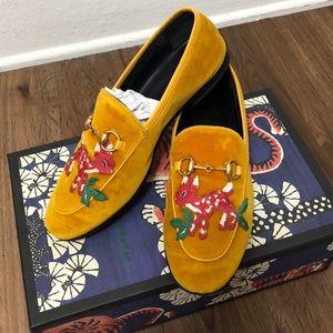 Gucci Jordaan Loafers deer embroidery Us 7.5